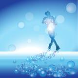 Pattinatore su ghiaccio della donna dell'illustrazione Immagine Stock