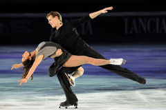 Pattinatori di ghiaccio Elena Ilinykh & Nikita Katsalapov Immagine Stock