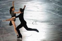 Pattinatori di ghiaccio Elena Ilinykh & Nikita Katsapalovi Immagini Stock