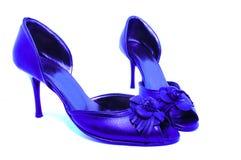 Pattini blu femminili immagini stock