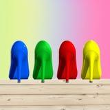 Pattini colorati Fotografia Stock