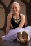 Pattini consumati della ballerina Fotografia Stock