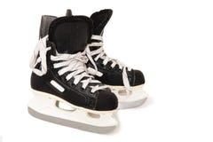 Pattini del hokey di ghiaccio Fotografia Stock
