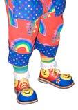 Pattini del pagliaccio di circo e particolare isolato pantaloni Immagine Stock Libera da Diritti