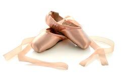 Pattini del pointe di balletto Fotografia Stock