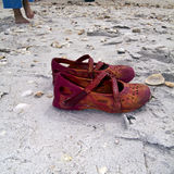 Pattini della spiaggia Immagini Stock Libere da Diritti