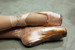 Pattini di balletto Fotografie Stock Libere da Diritti