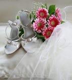 Pattini di cerimonia nuziale Fotografia Stock
