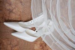 Pattini di cerimonia nuziale Fotografie Stock