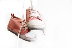 Pattini di colore rosa di bambino Fotografia Stock Libera da Diritti