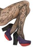 Pattini e calze, pantyhose. immagine stock libera da diritti