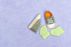 Pattini e calzini Immagini Stock Libere da Diritti