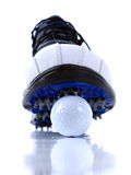 Pattini e sfere di golf Immagini Stock