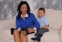 Pattini e tempo 6 dei calzini Fotografia Stock