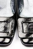 Pattini femminili neri Fotografie Stock Libere da Diritti