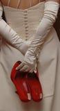 Pattini rossi Fotografie Stock Libere da Diritti