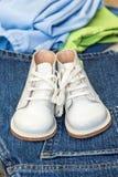 Pattini rossi del bambino Fotografia Stock Libera da Diritti
