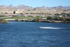 Pattino del jet nel fiume di colorado Fotografia Stock Libera da Diritti