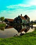 pattino dell'Olanda della fabbrica di legno Immagine Stock Libera da Diritti