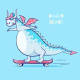 Pattino di guida del drago illustrazione vettoriale