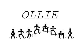 Pattino di trucco di Ollie Fotografia Stock Libera da Diritti