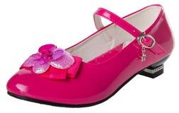 pattino le scarpe del bambino su un fondo Immagini Stock Libere da Diritti