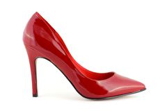 Pattino rosso delle donne Immagini Stock