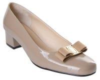 pattino scarpa della donna su un fondo Immagini Stock