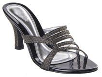 pattino scarpa della donna su un fondo Fotografia Stock Libera da Diritti