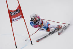 PATTINO: Slalom alpino del gigante del Alta Badia della tazza di mondo del pattino Fotografie Stock
