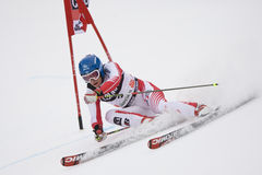 PATTINO: Slalom alpino del gigante del Alta Badia della tazza di mondo del pattino Fotografia Stock
