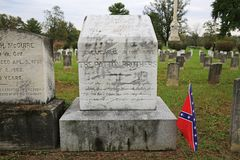 Patton Brothers Grave, Winchester, Virginia. Grave of Confederate Colonel George S. Patton and his brother Lt. Colonel Waller Tazewell Patton killed at the Third royalty free stock images