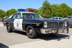 Pattuglia della polizia della strada principale di 1978 polizie di Dodge Monaco California Fotografia Stock