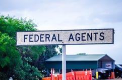 Pattuglia di frontiera federale di alta sicurezza Fotografia Stock