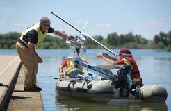 Pattuglia di salvataggio del hydroplane di RC Fotografia Stock Libera da Diritti