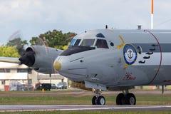 Pattuglia tedesca di Deutsche Marine Lockheed P-3C Orion Maritime della marina ed anti aerei sottomarini di guerra fotografia stock libera da diritti