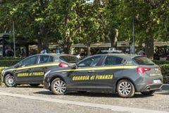 Pattuglie della polizia della guardia finanziaria Rome Fotografia Stock