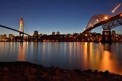 Pattullo Bridge and the Skybridge Royalty Free Stock Photography