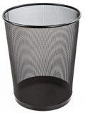 Pattumiera del cestino per la carta straccia del nero della maglia del metallo Fotografia Stock