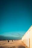 Pattumiere alla spiaggia Fotografia Stock Libera da Diritti