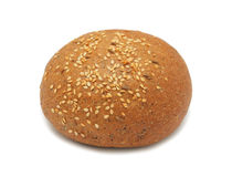 Patty-cake with sesame, isolated Stock Photos