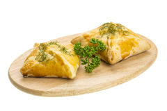 Patty with chicken and parsley Royalty Free Stock Images