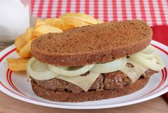 Patty Melt Sandwich Royalty Free Stock Image
