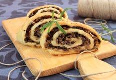Mushrooms and sauerkraut pie Royalty Free Stock Image