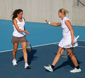 Patty Schnyder (SUI) and Anna-Lena Groenefeld (GER Stock Photography