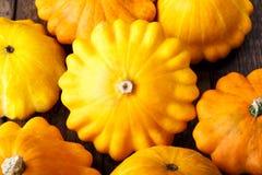 pattypan κολοκύνθη κίτρινη στοκ εικόνες