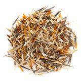 Patula orgánico secado de Tagetes de los pétalos de la maravilla francesa Imagen de archivo libre de regalías