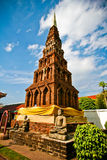 Patumwadee Pagoda. Square Pagoda at Phratat Haripunchai Temple Royalty Free Stock Photography