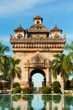 Patuxai纪念碑,万象,老挝。 库存图片