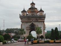Patuxai纪念碑,万象,老挝 图库摄影